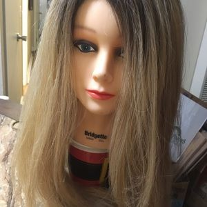 Blonde with dark roots lacefront wig